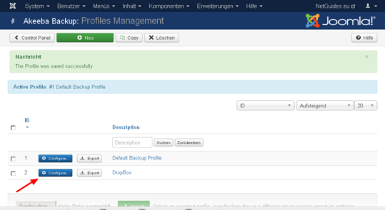Akeeba Backup Profiles Management NetGuides.eu Administration02
