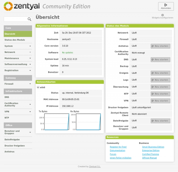 Zentyal Admin Panel